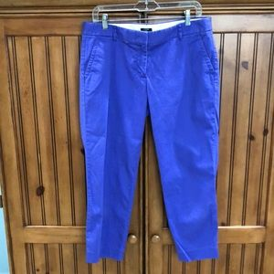 Women's J.Crew city fit stretch cropped pants 10